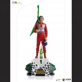 Aryton Senna Art Scale Deluxe Statue - GP Brazil 1991 -